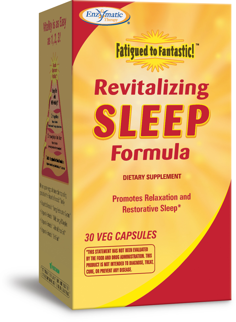 Fatigued to Fantastic Revitalizing Sleep Formula 30 Veg caps by Enzymatic Therapy