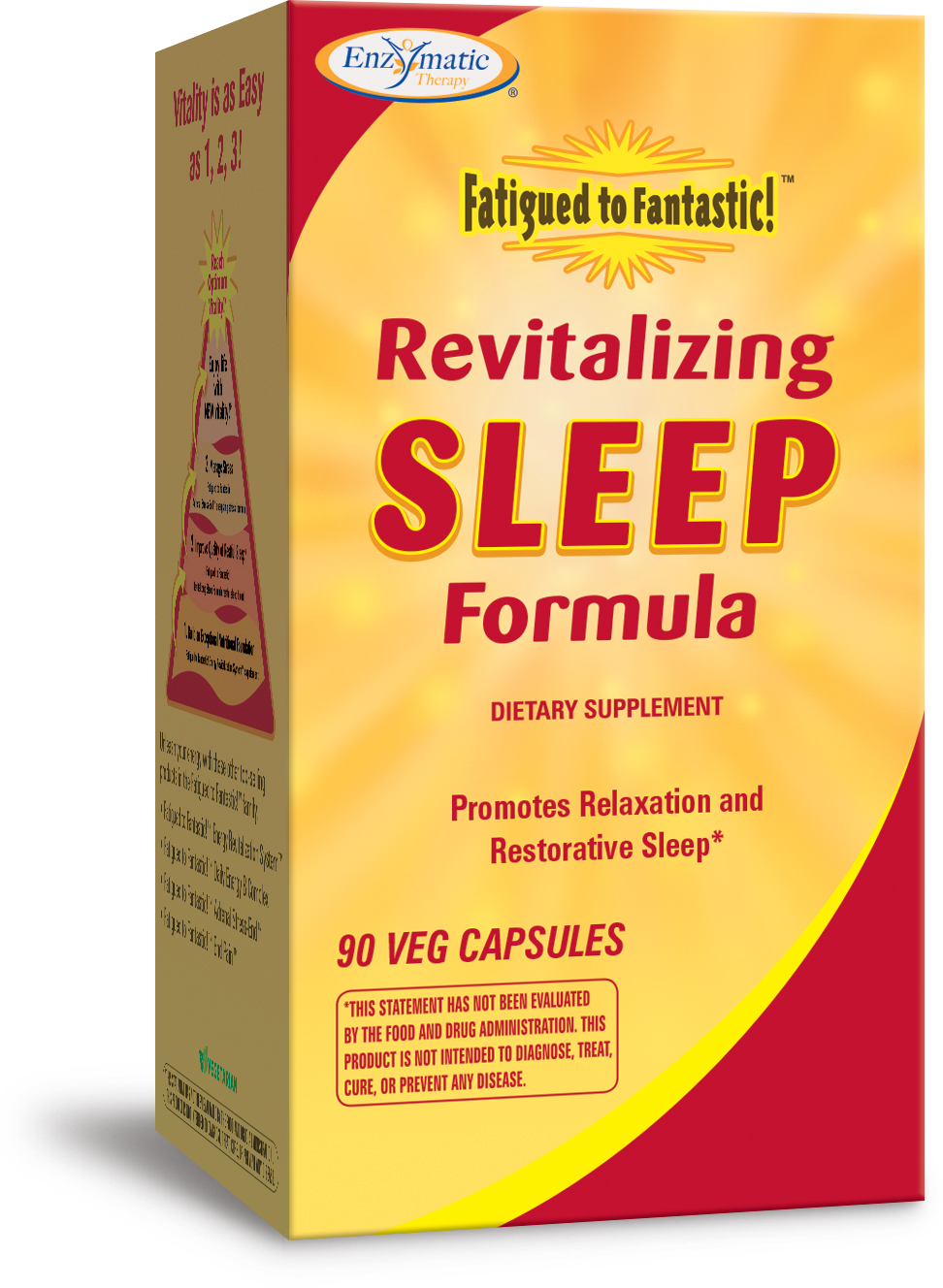 Fatigued to Fantastic Revitalizing Sleep Formula 90 Veg caps by Enzymatic Therapy
