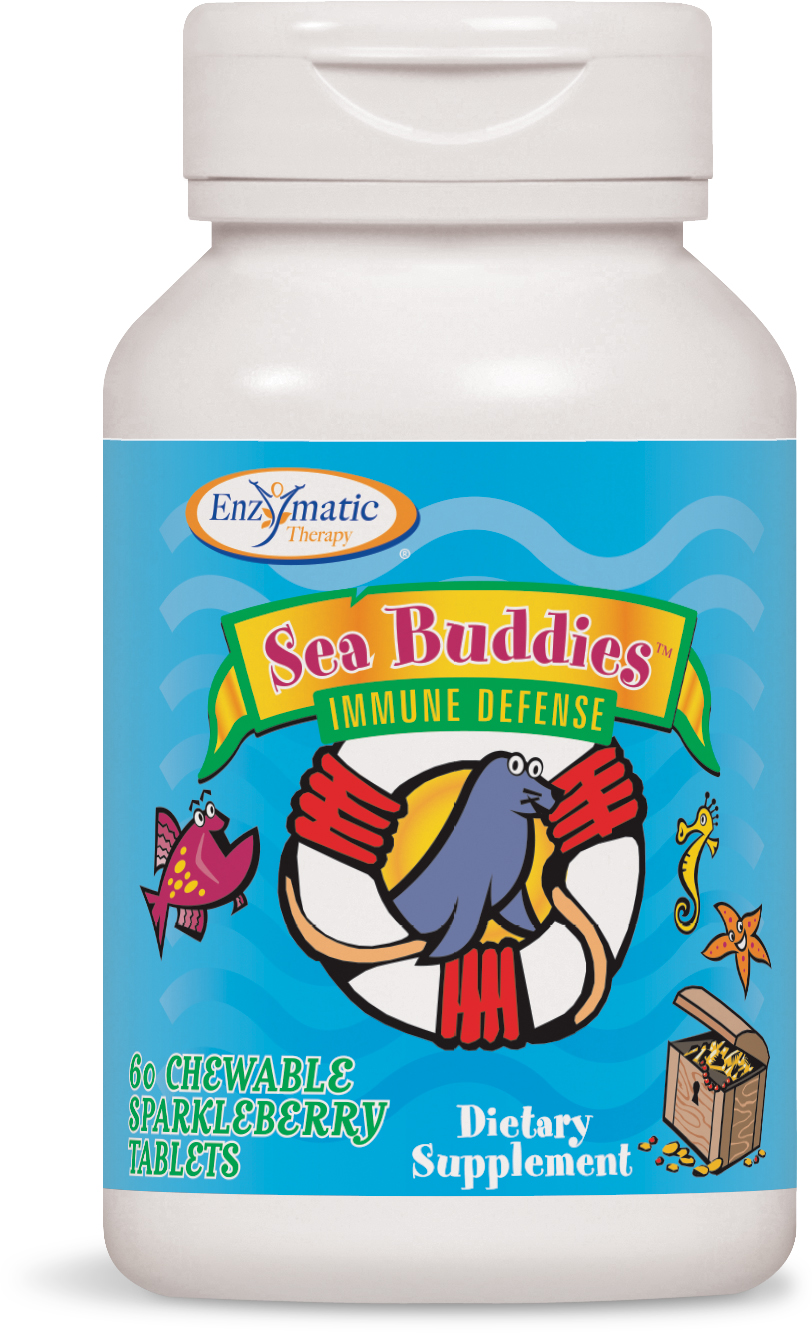 Sea Buddies Immune Defense Sparkleberry 60 Chewable tabs by Enzymatic Therapy
