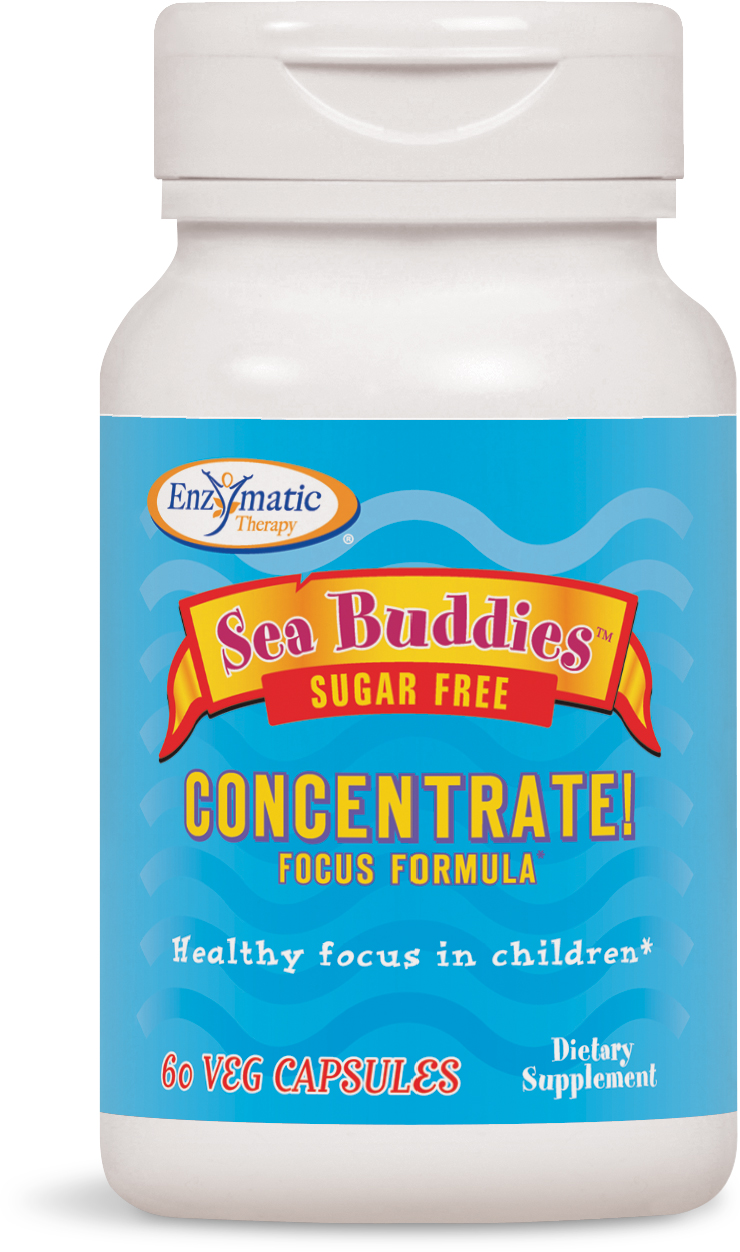 Sea Buddies Concentrate! Focus Formula 60 caps by Enzymatic Therapy
