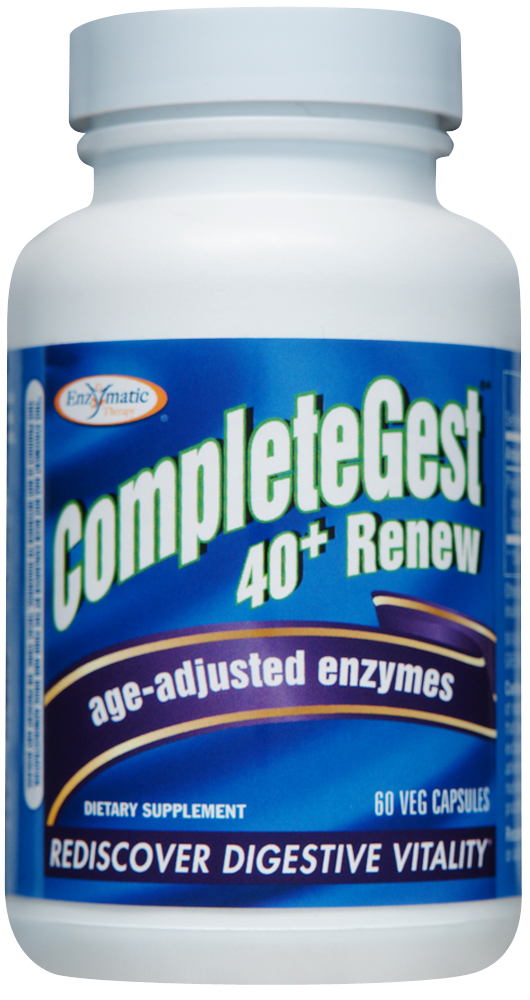 CompleteGest 40+ Renew Age-Adjusted Enzymes 60 Veg caps by Enzymatic Therapy