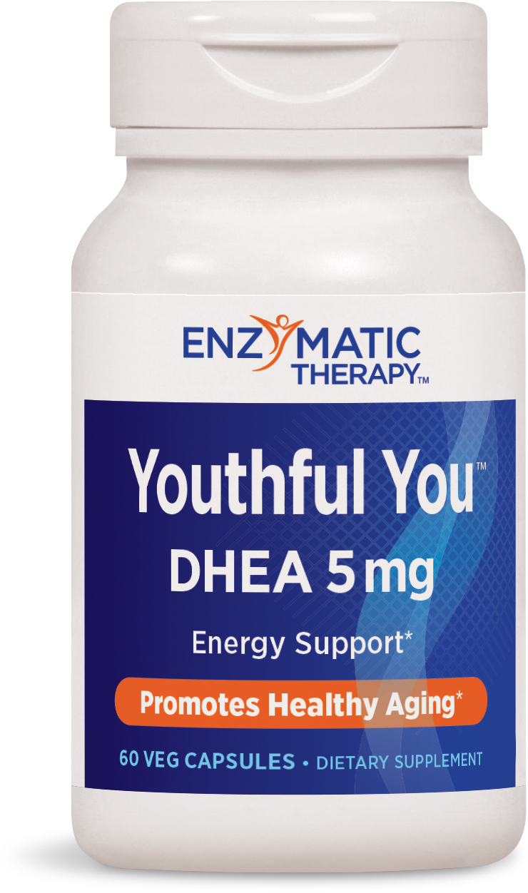 Youthful You DHEA 5 mg 60 Veg caps by Enzymatic Therapy