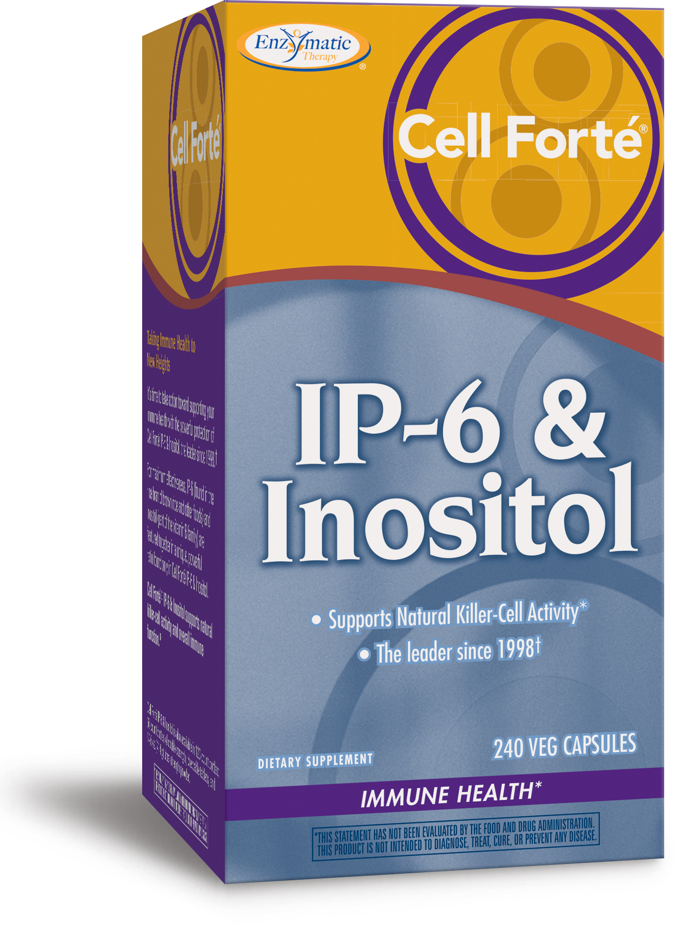 Cell Forte IP-6 & Inositol 240 Veg caps by Enzymatic Therapy