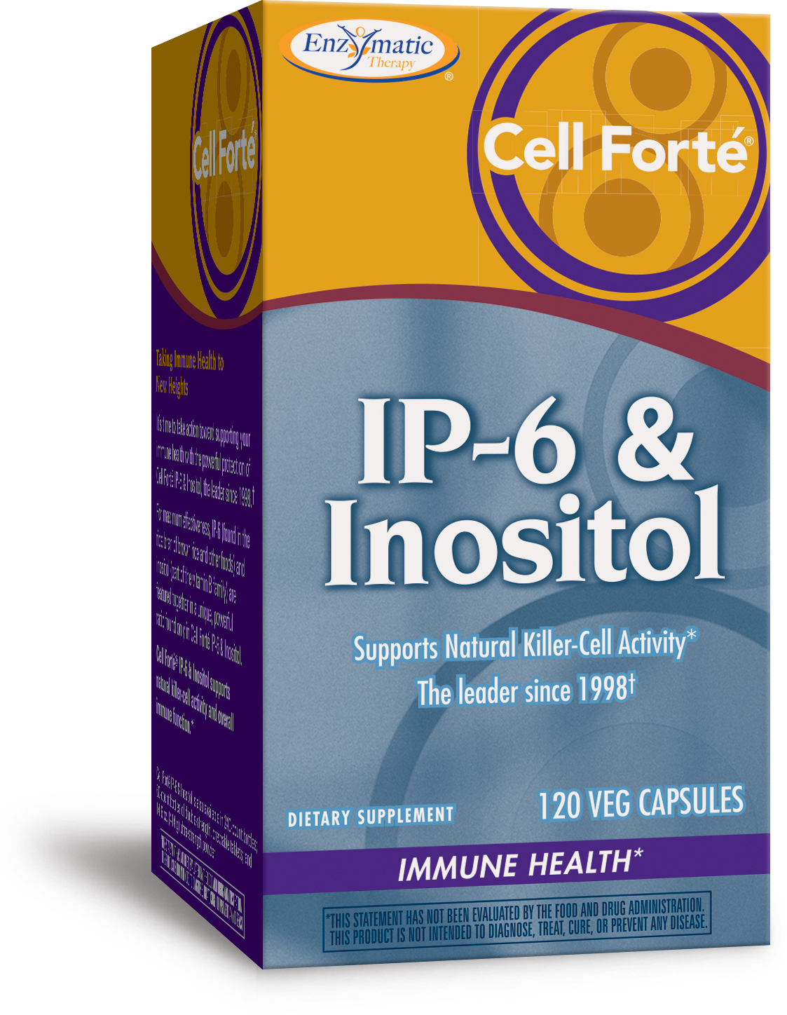 Cell Forte IP-6 & Inositol 120 Veg caps by Enzymatic Therapy