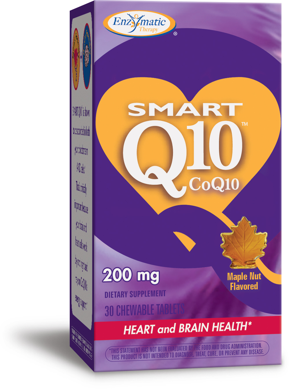 Smart Q10 Maple Nut Flavor 200 mg 30 Chewable tabs by Enzymatic Therapy