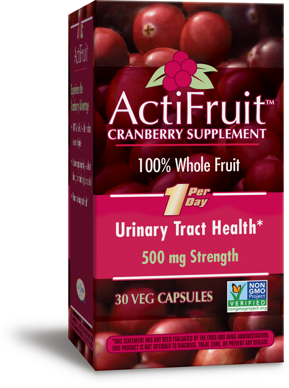 ActiFruit Cranberry Supplement 30 Veg caps by Enzymatic Therapy