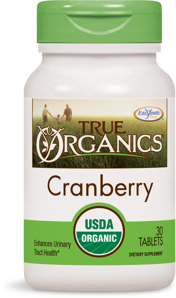 True Organics Cranberry 30 tabs by Enzymatic Therapy