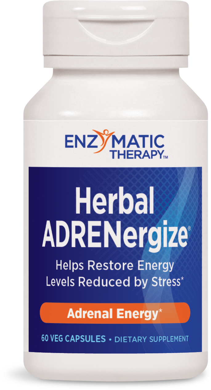 Herbal ADRENergize 60 Veg caps by Enzymatic Therapy
