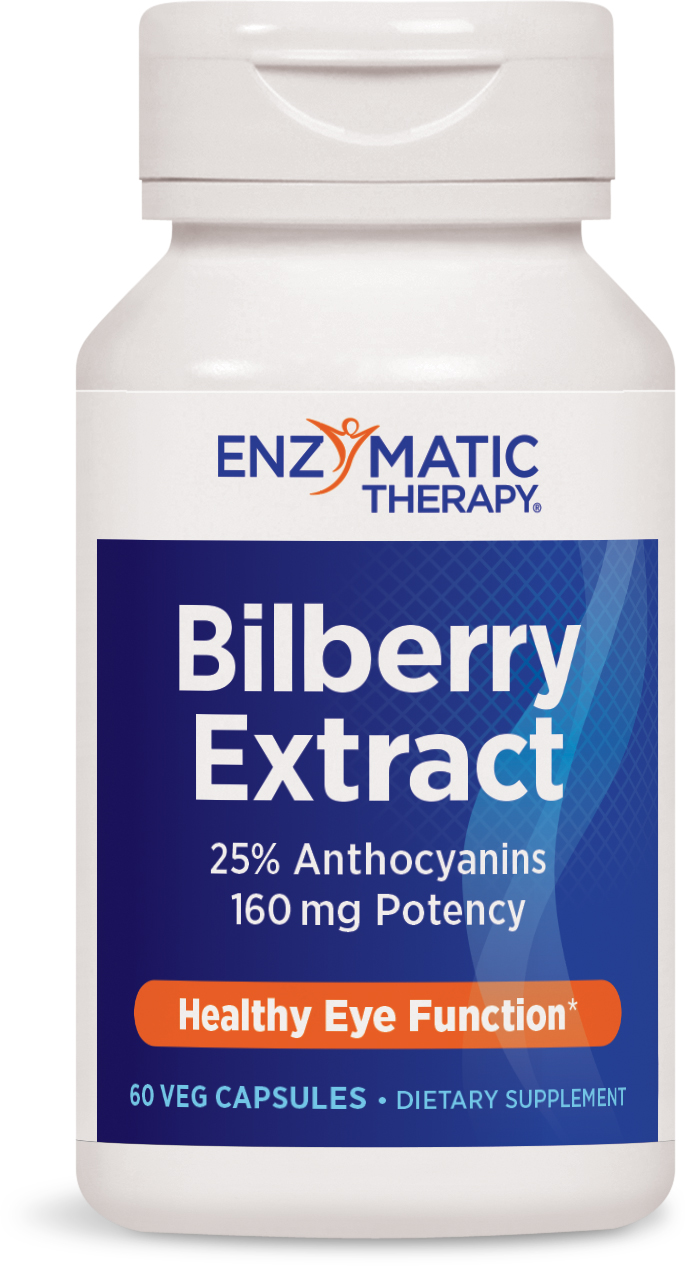 Bilberry Extract 60 Veg caps by Enzymatic Therapy