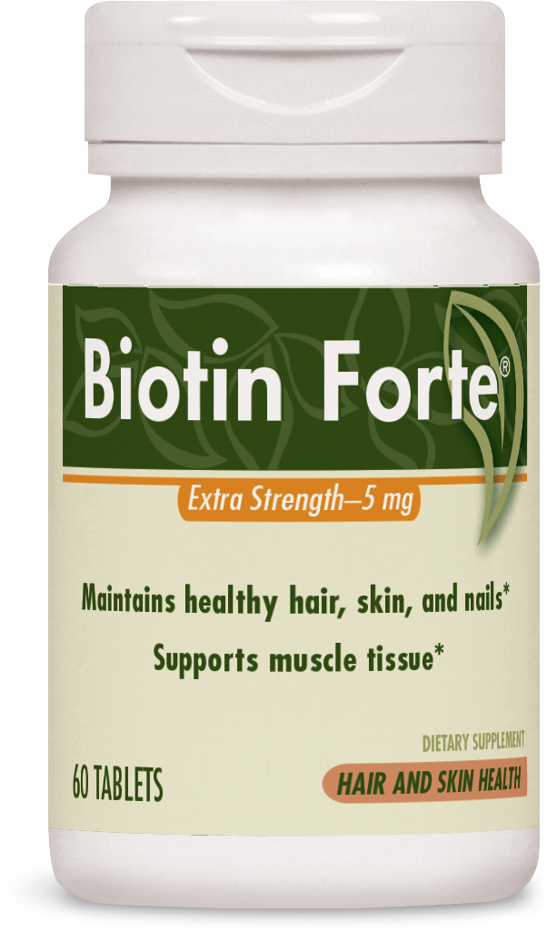 Biotin Forte Extra Strength 5 mg 60 tabs by Enzymatic Therapy