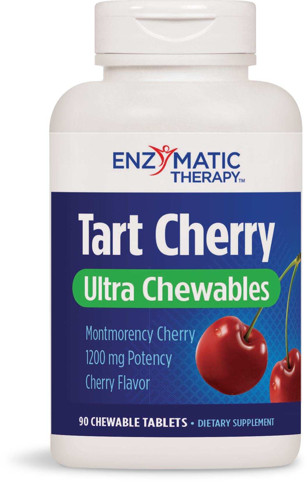 Tart Cherry Ultra Chewable Natural Cherry 90 Chewable tabs by Enzymatic Therapy