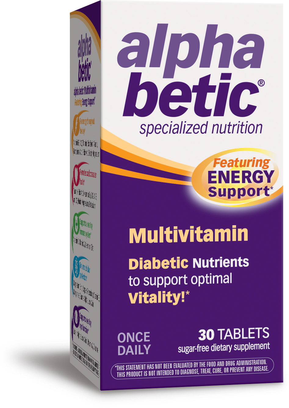 Alpha Betic Multivitamin Plus Extended Energy 30 tabs by Enzymatic Therapy