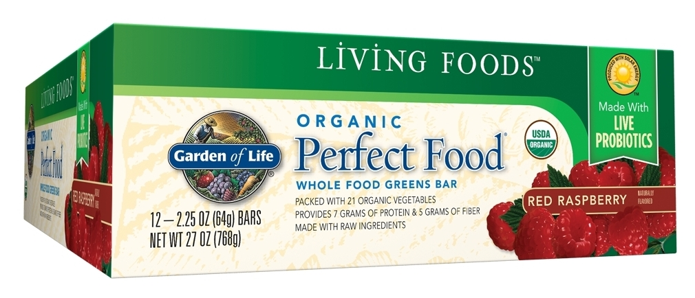 Perfect Food Bar Red Raspberry 12 Bars by Garden of Life