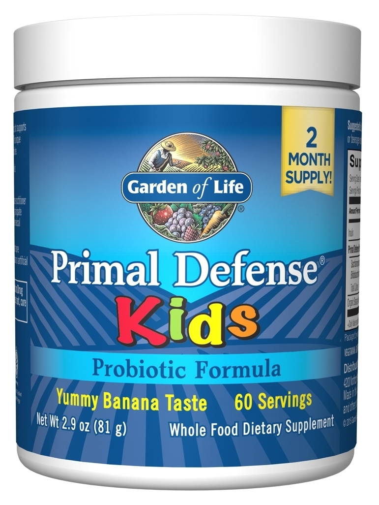 Primal Defense Kids Natural Banana Flavor 76.8 g by Garden of Life