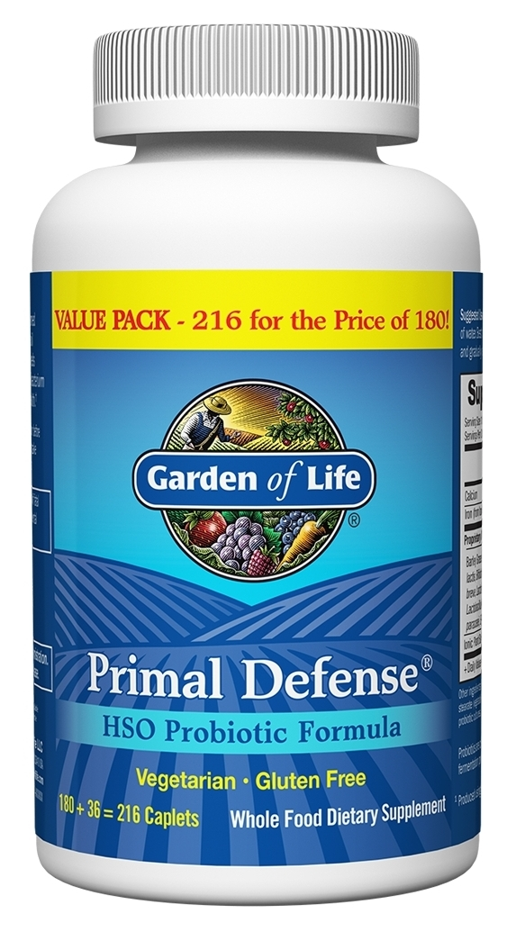 Primal Defense Bonus 216 Caplets by Garden of Life