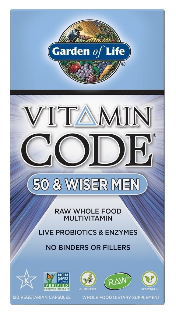 Vitamin Code 50 & Wiser Men 240 Vegetarian Capsules by Garden of Life