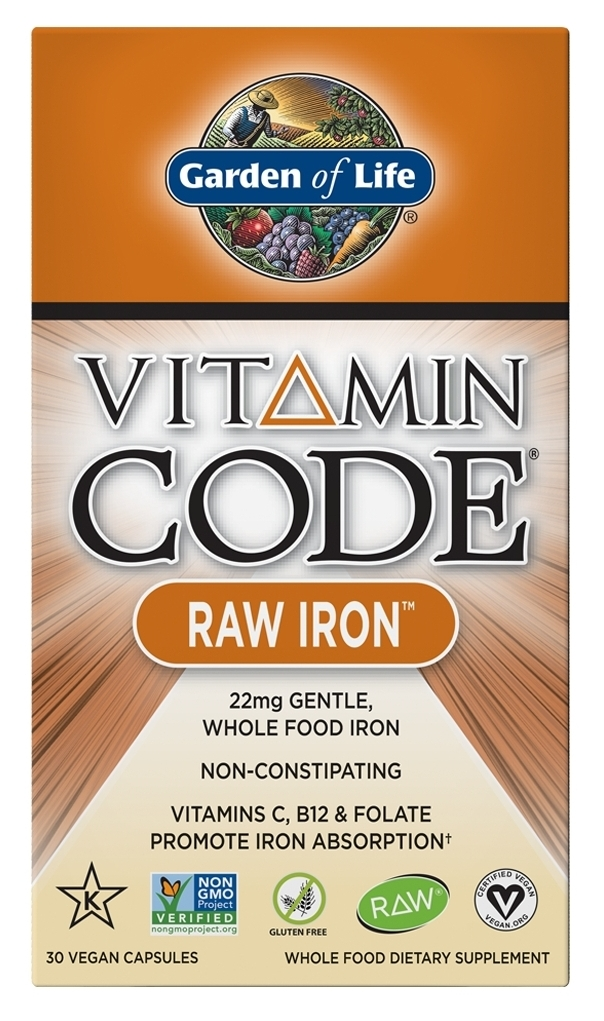 Vitamin Code Raw Iron 30 Vegan Capsules by Garden of Life