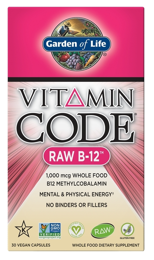 Vitamin Code Raw B-12 30 Vegan Capsules by Garden of Life