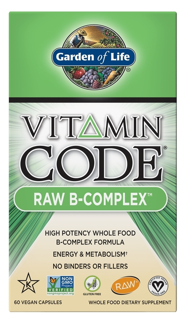 Vitamin Code Raw B-Complex 60 Vegan Capsules by Garden of Life