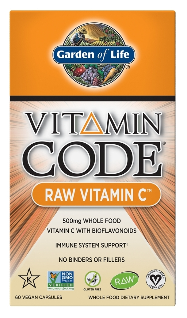Vitamin Code Raw Vitamin C 60 Vegan Capsules by Garden of Life