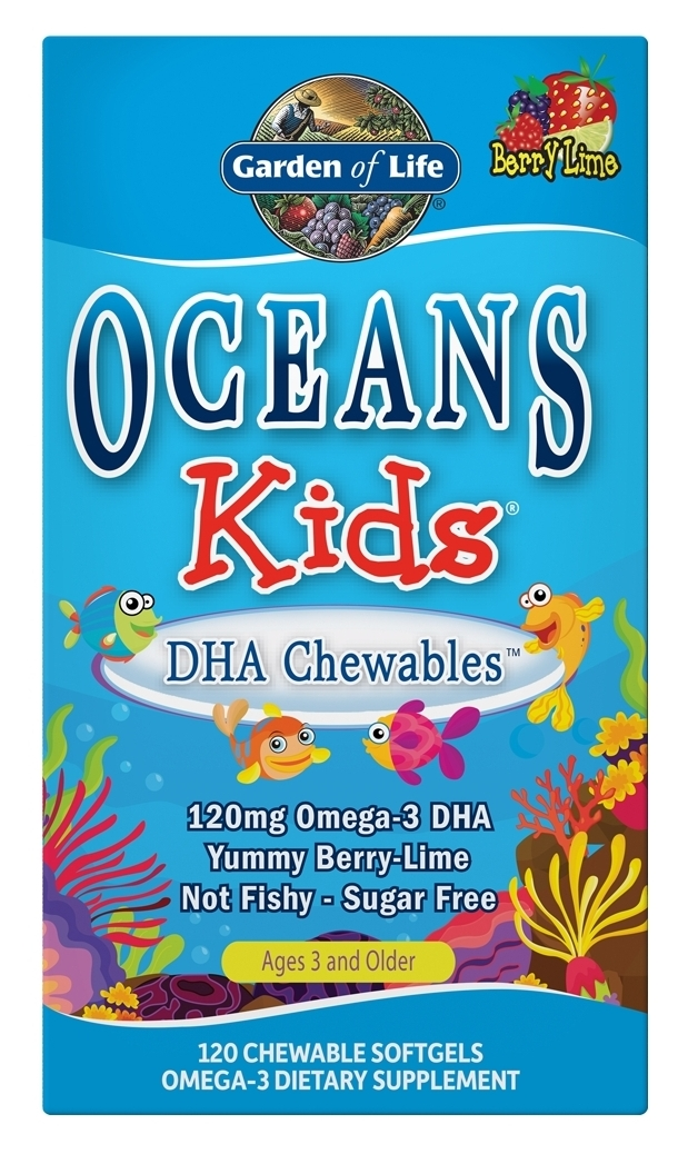 Oceans Kids DHA Chewables 120 sgels by Garden of Life