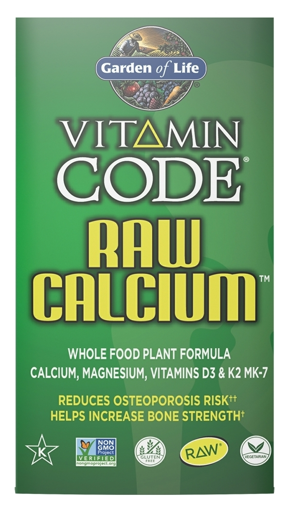 Vitamin Code Raw Calcium 60 Vegetarian Capsules by Garden of Life