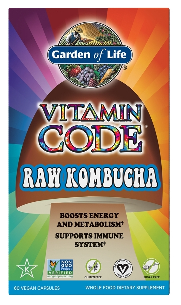 Vitamin Code Raw Kombucha 60 Vegan caps by Garden of Life