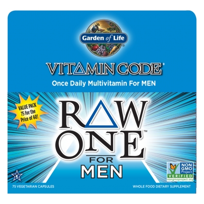Vitamin Code Raw One for Men 75 Vegetarian Capsules by Garden of Life