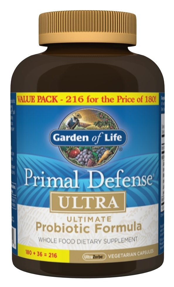 Primal Defense Ultra Bonus 216 Vegetarian caps by Garden of Life