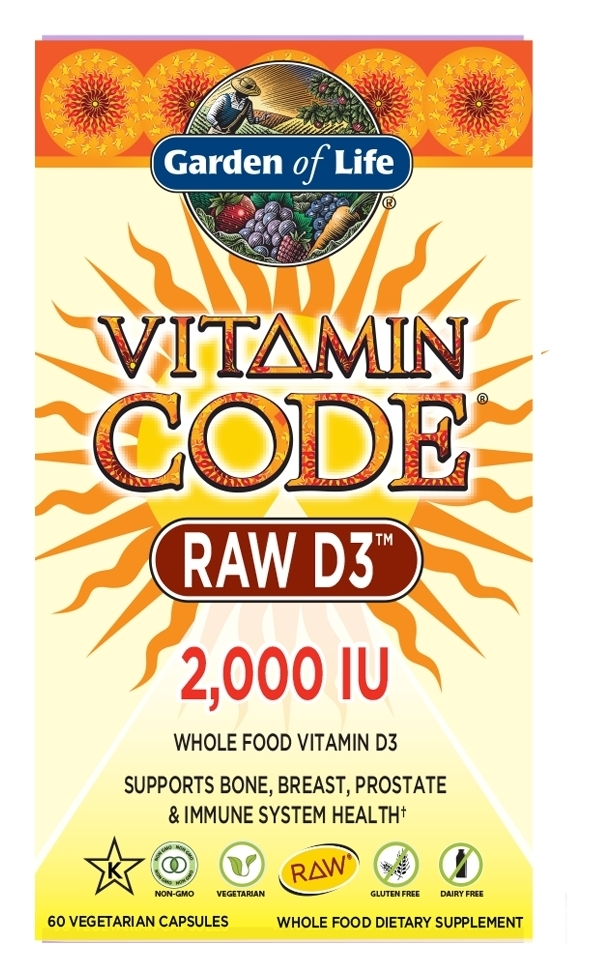 Vitamin Code Raw D3 2,000 IU 60 caps by Garden of Life