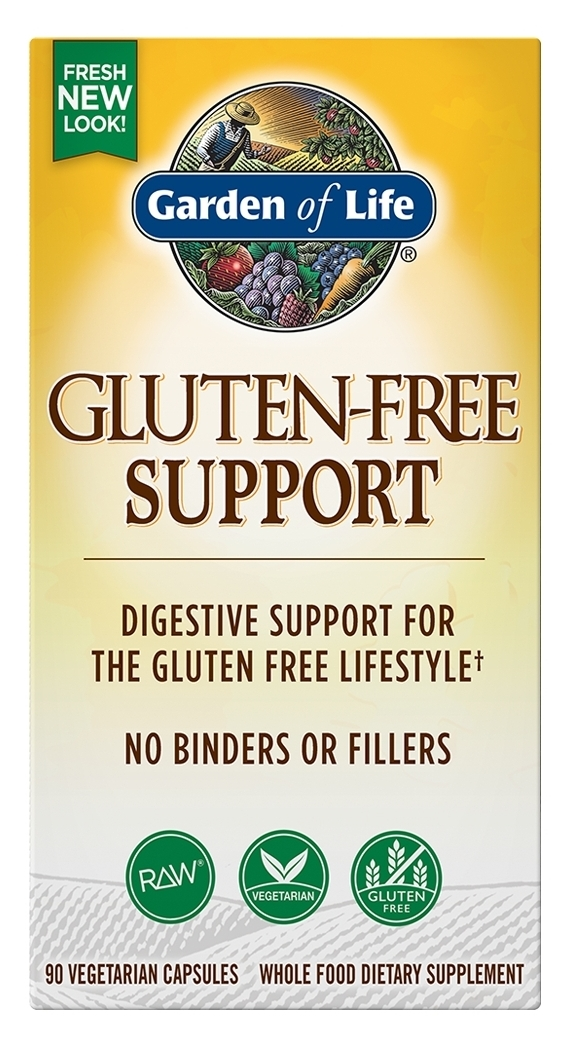 RAW Gluten-Free Support (formerly Gluten Freeze) 90 Vegetarian caps by Garden of Life