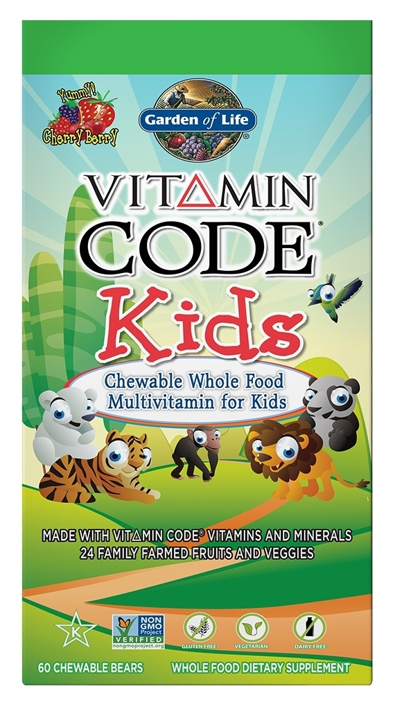 Vitamin Code Kids 60 Chewable Bears by Garden of Life