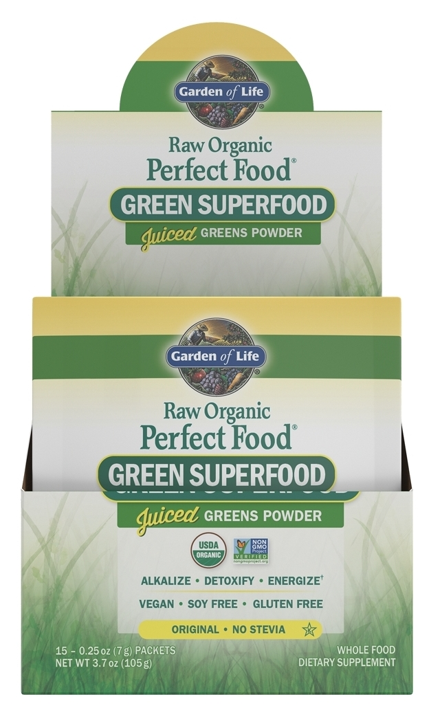 Perfect Food Raw 15 Single Serving Packets 0.28 oz (8g) Each by Garden of Life