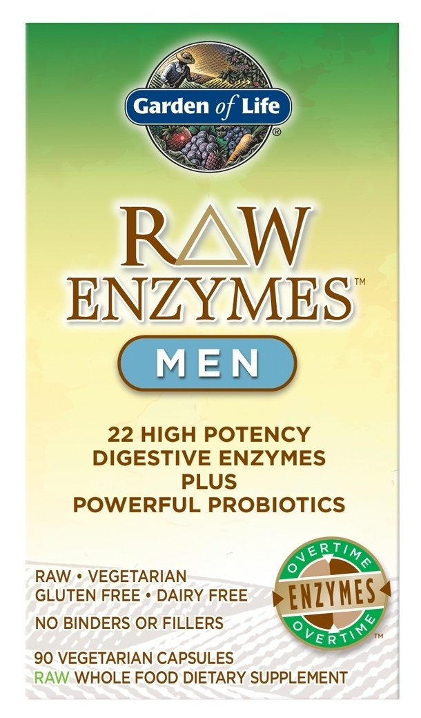 RAW Enzymes Men 90 caps by Garden of Life