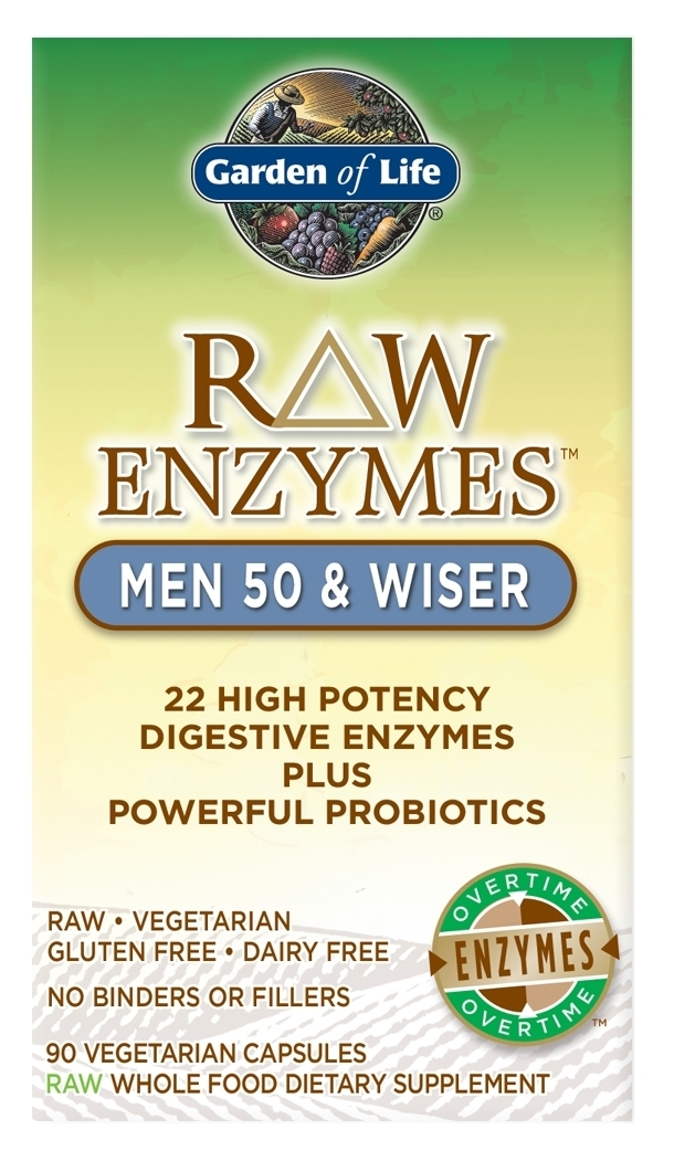 RAW Enzymes Men 50 & Wiser 90 caps by Garden of Life