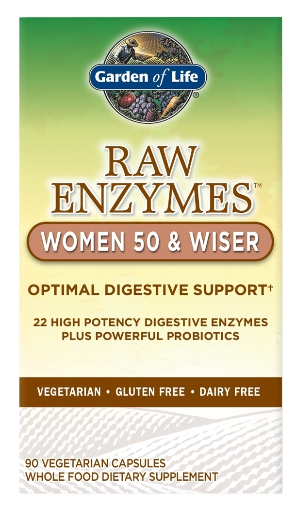 RAW Enzymes Women 50 & Wiser 90 caps by Garden of Life
