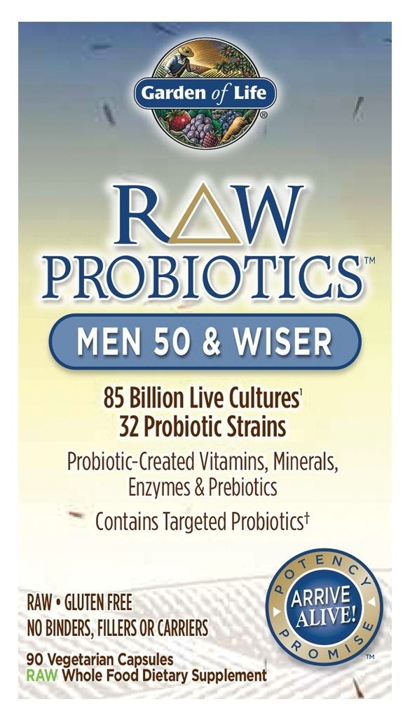 RAW Probiotics Men 50 & Wiser 90 caps by Garden of Life