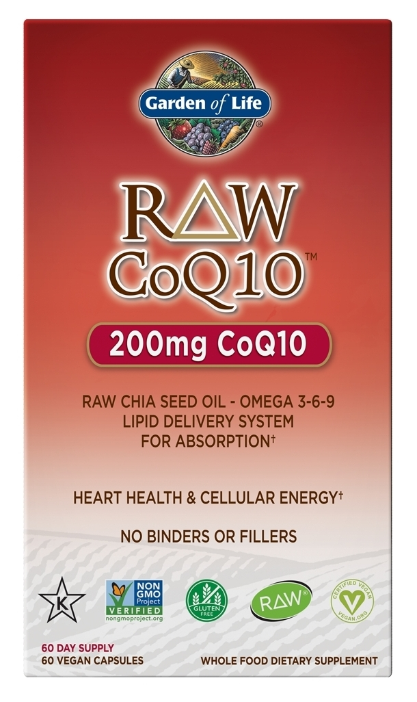 RAW CoQ10 60 caps by Garden of Life