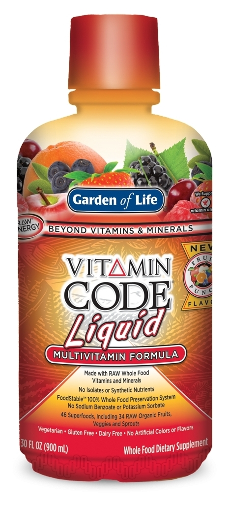 Vitamin Code Liquid Multi Fruit Punch Flavor 30 fl oz (900 ml) by Garden of Life