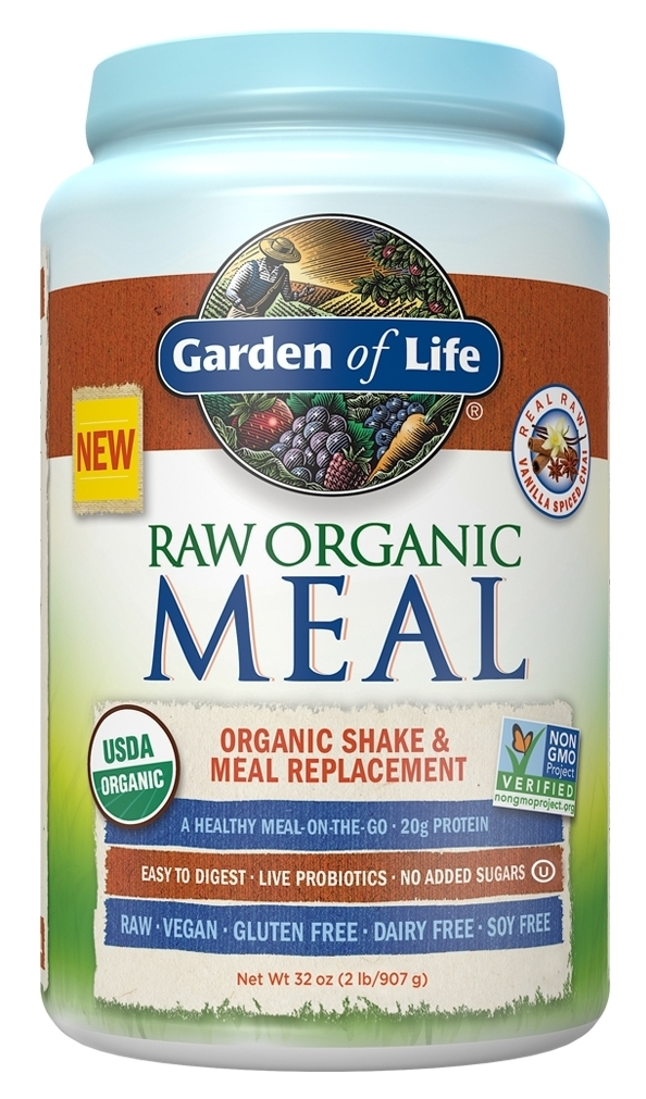 Raw Meal Vanilla Spiced Chai 2.5 lbs (1.1 kg) by Garden of Life
