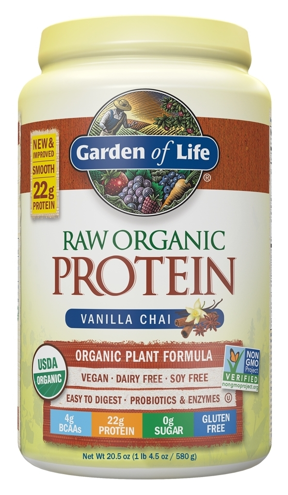 Raw Protein Vanilla Spiced Chai 22 oz (630 g) by Garden of Life