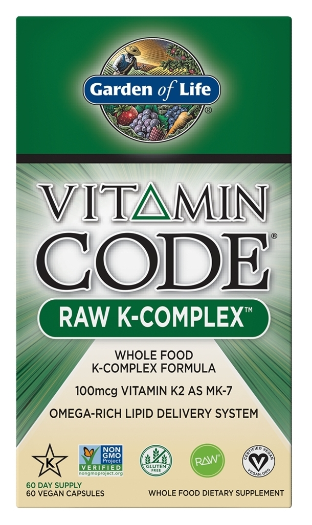 Vitamin Code Raw K-Complex 60 Vegan caps by Garden of Life