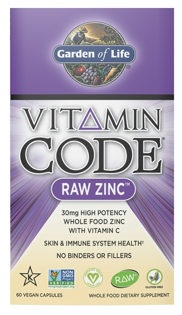 Vitamin Code Raw Zinc 60 Vegan caps by Garden of Life