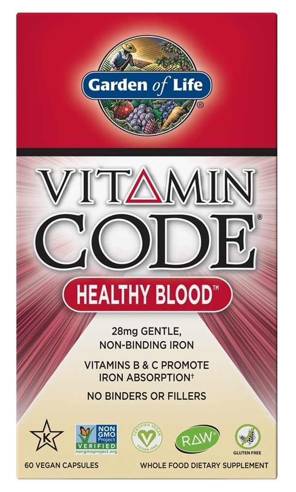 Vitamin Code Healthy Blood 60 Vegan caps by Garden of Life