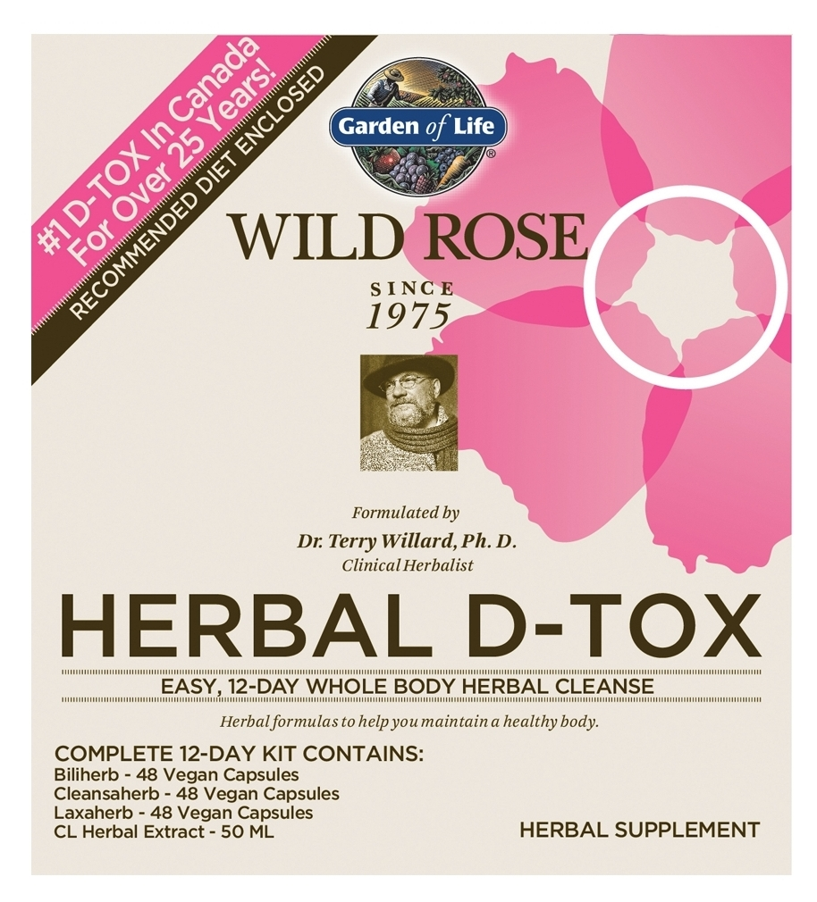 Wild Rose Herbal D-Tox 12-Day Kit by Garden of Life