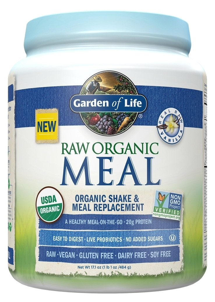 Raw Organic Meal Vanilla 17.1 oz (484 g) by Garden of Life
