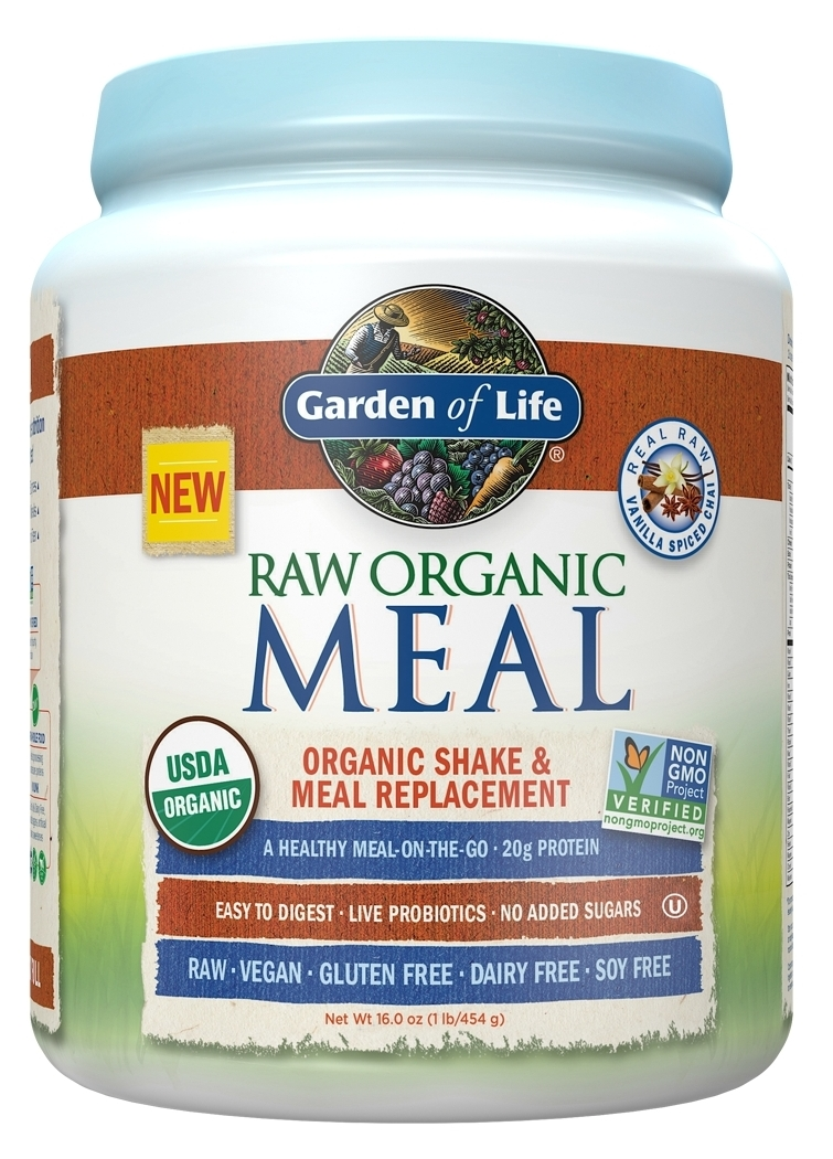 Raw Meal Vanilla Spiced Chai 1.2 lbs (557 g) by Garden of Life