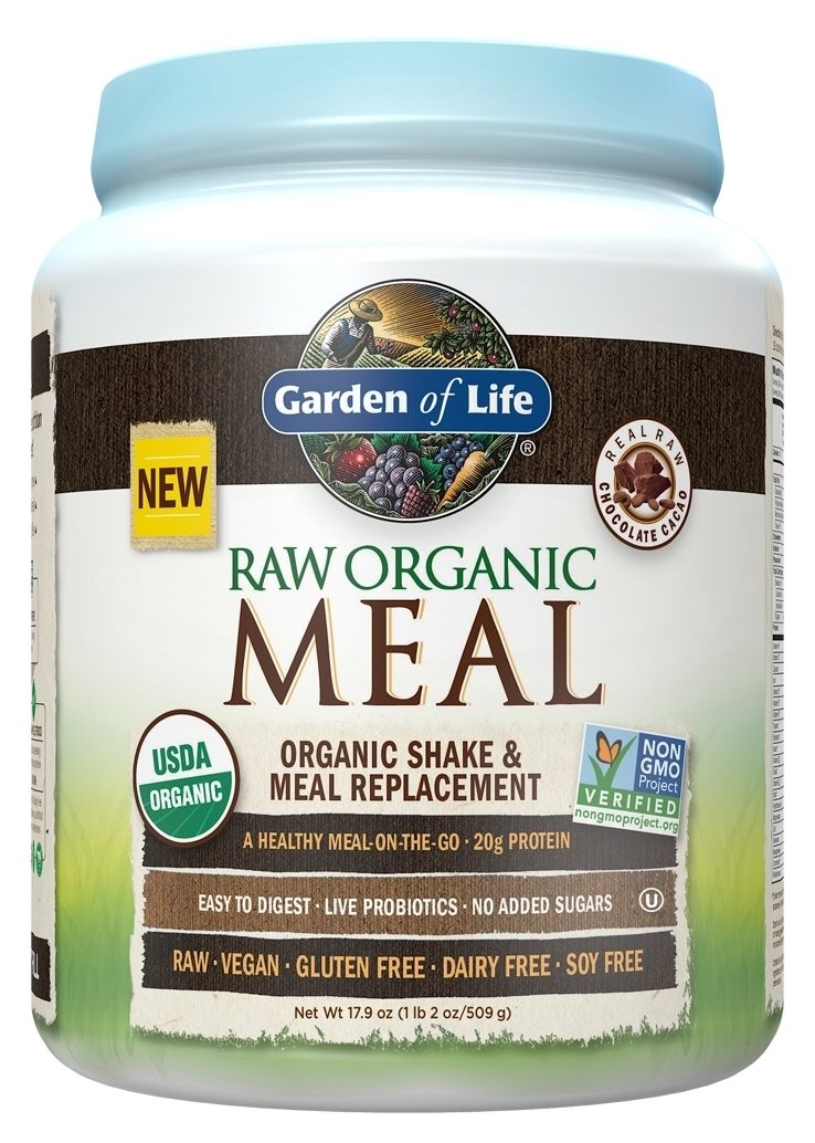 Raw Meal Chocolate 1.34 lbs (606 g) by Garden of Life