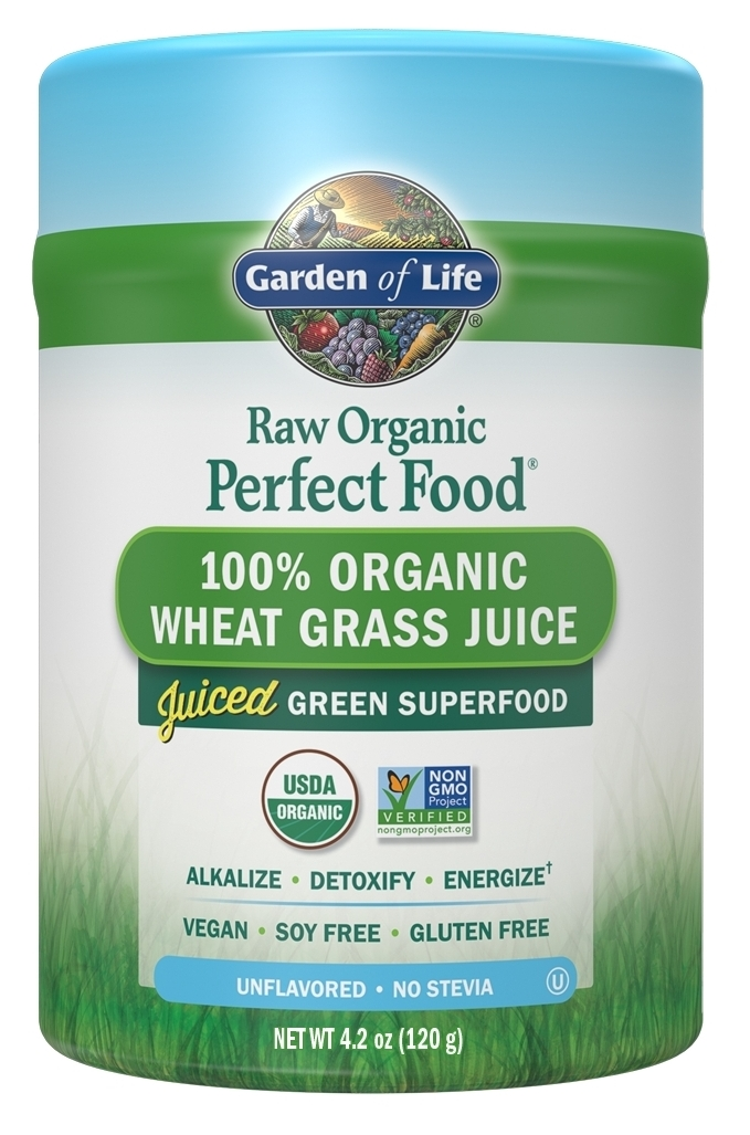 Perfect Food Raw Wheat Grass Juice Powder 120 g by Garden of Life