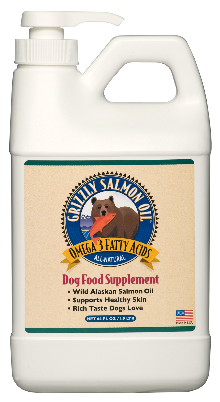Grizzly Salmon Oil 64 oz for Dogs